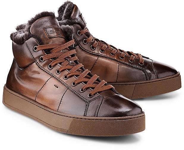 Santoni Hi-Top Luxus-Sneaker