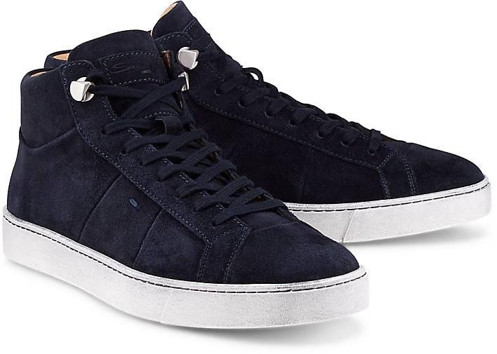 55a11e6a8aa751 Santoni - Luxus-Sneaker - Freizeit-Stiefel - blau-dunkel - GÖRTZ