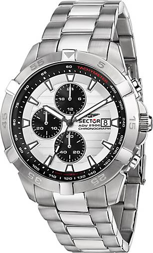 Sector Chronograph ADV2500 43MM CHR W/SILVER DIAL BR SS