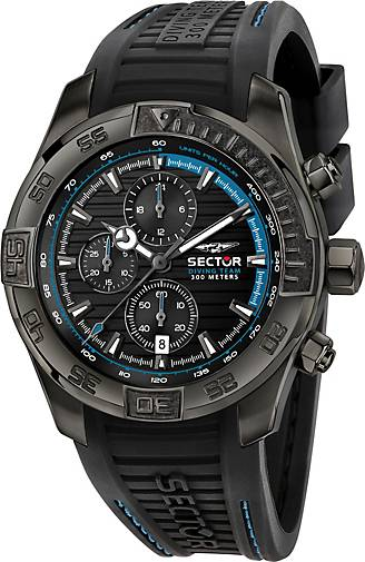 Sector Chronograph DIVING TEAM 45MM CHR BLK DIAL BLK STRAP