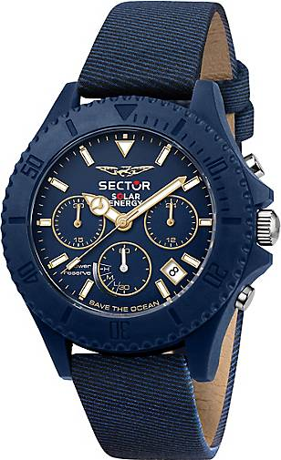 Sector Chronograph SAVE THE OCEAN 44MM CHR BLUE DIAL BLUE S