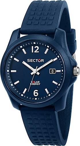 Sector Quarzuhr 16.5 40MM 3H BLUE DIAL BLUE SILICON ST