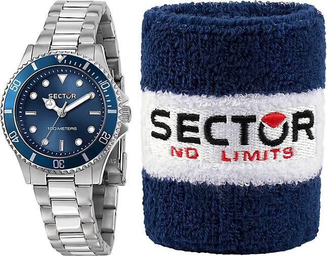 Sector Quarzuhr 230 35MM 3H BLUE DIAL BRACELET SS