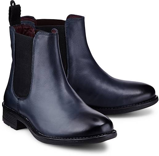 Shoot Chelsea Boots Stiefeletten Schuhe Ankle Boots Echt Leder Schwarz SH14166