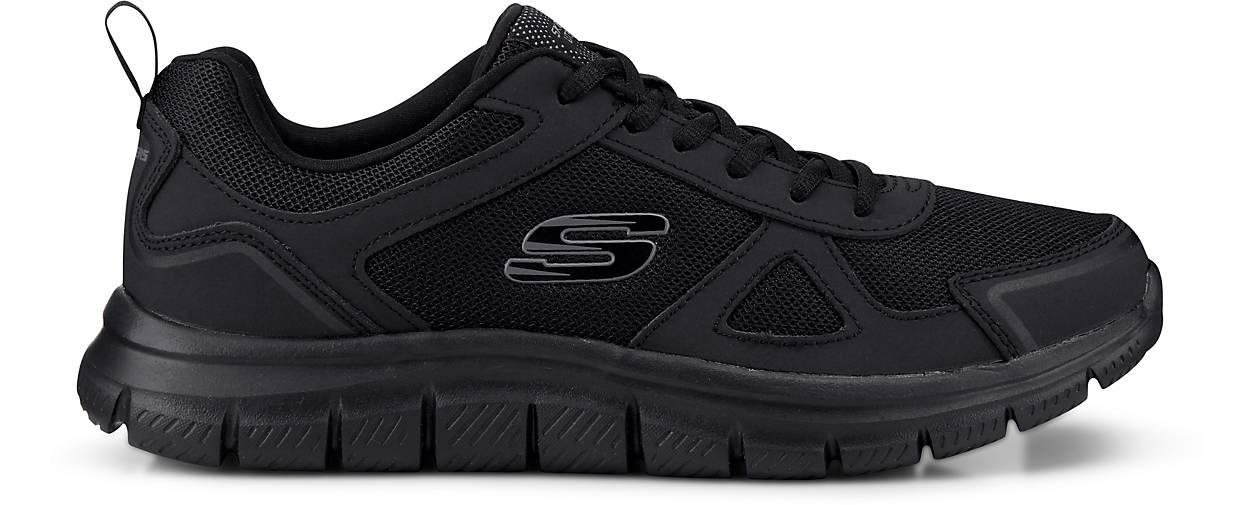Skechers Track Herren Low Sneaker Schwarz Schuhe, | real