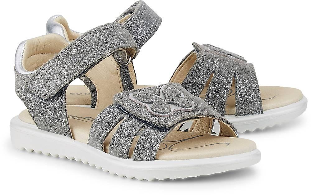 Superfit, Klett-Sandale Maya in hellgrau, Sandalen für Mädchen