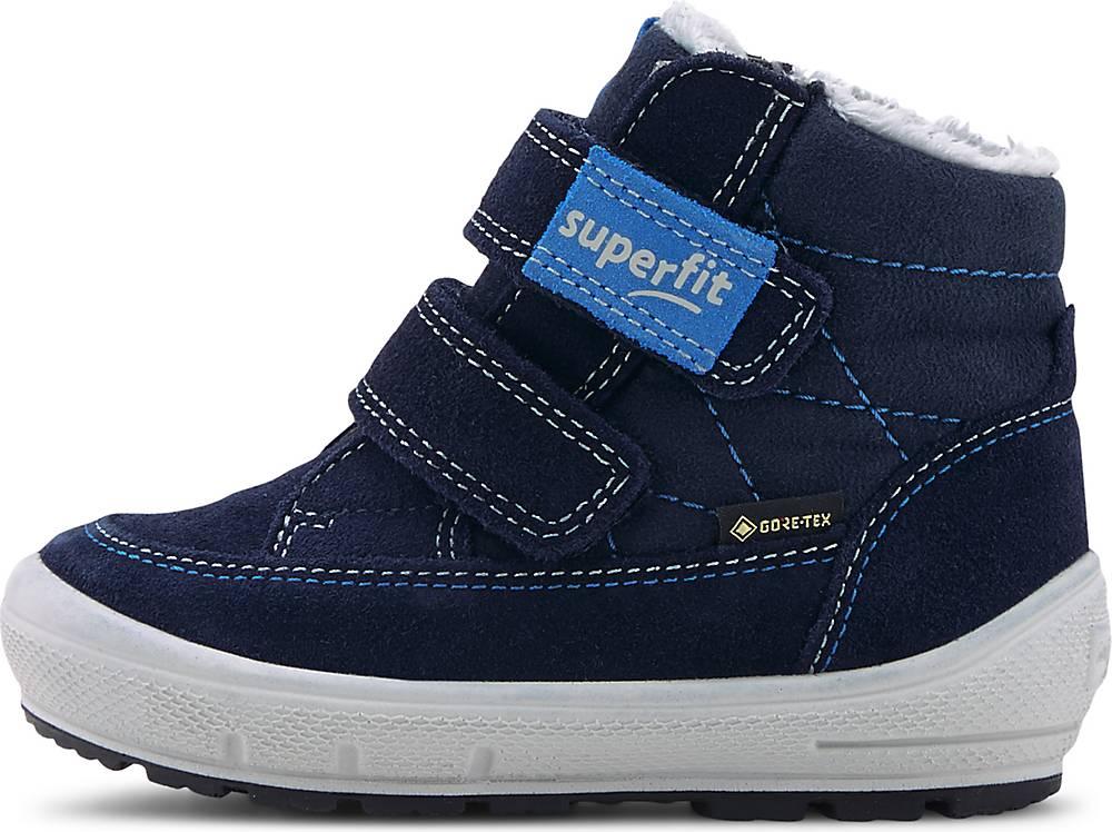 Superfit, Winter-Lauflerner Groovy in blau, Krabbel- und Lauflernschuhe für Jungen, Größe: 26