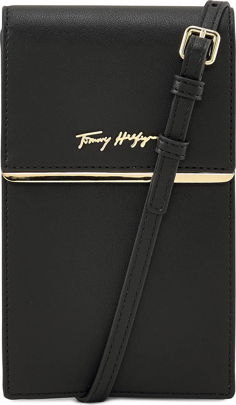 TOMMY HILFIGER, Handytasche in schwarz, Handyhüllen & Zubehör für Damen