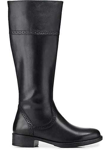 tamaris klassik-stiefel schwarz