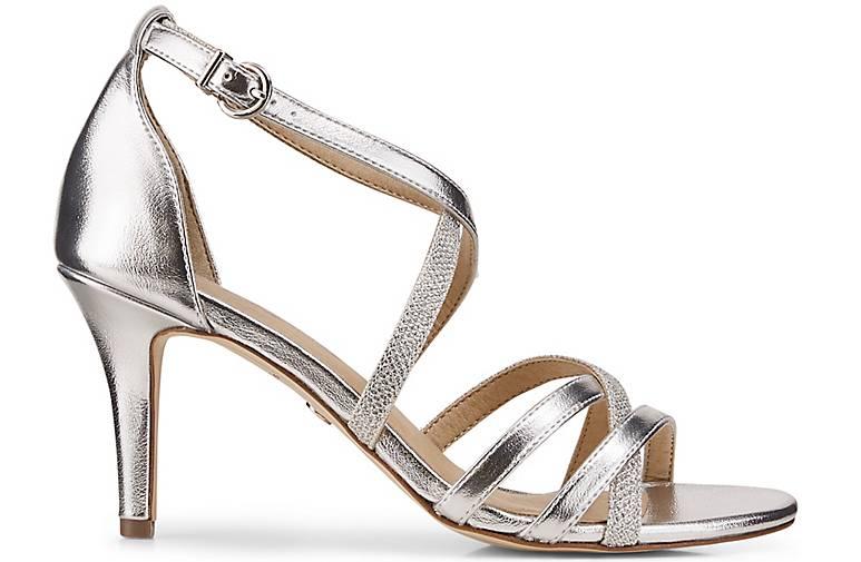 Tamaris Qualität Leder-Sandalette in silber kaufen - 48321301 GÖRTZ Gute Qualität Tamaris beliebte Schuhe c8a073