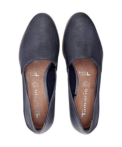 Tamaris - Leder-Slipper in blau-dunkel kaufen - Tamaris 47115401 GÖRTZ Gute Qualität beliebte Schuhe 4ce3df