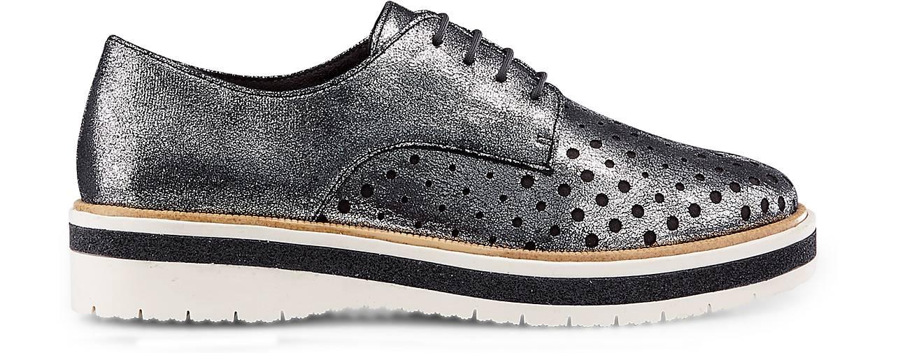 Tamaris GÖRTZ Metallic-Schnürer in silber kaufen - 47272601 | GÖRTZ Tamaris Gute Qualität beliebte Schuhe d5866e
