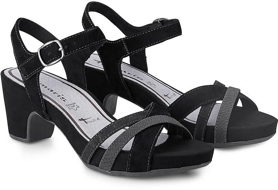 tamaris sandaletten schwarz preise vergleichen und. Black Bedroom Furniture Sets. Home Design Ideas