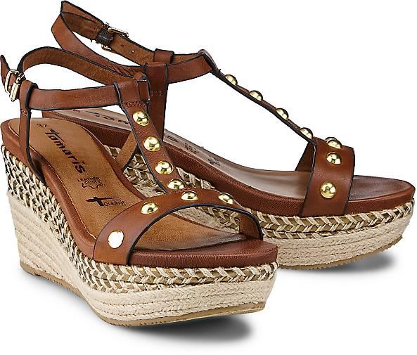 tamaris sandalette keil sandaletten braun mittel g rtz. Black Bedroom Furniture Sets. Home Design Ideas