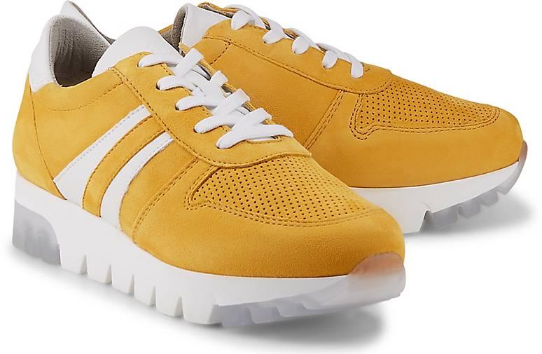 Tamaris Damen Sneaker Sneaker Low Veloursleder gelb | real