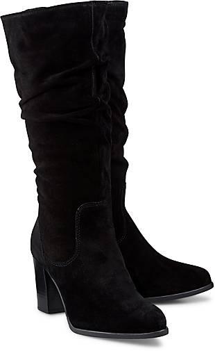 ef0e45bf73ead6 Tamaris Velours-Stiefel in schwarz kaufen - 48406401