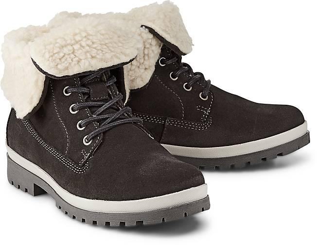 tamaris winter boots schn rstiefeletten grau dunkel. Black Bedroom Furniture Sets. Home Design Ideas