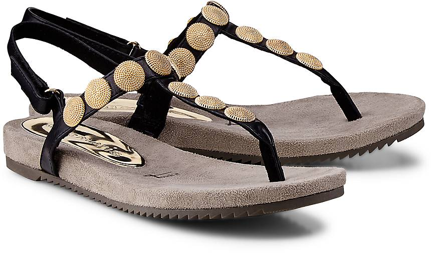 tamaris zehentrenner sandaletten schwarz g rtz. Black Bedroom Furniture Sets. Home Design Ideas