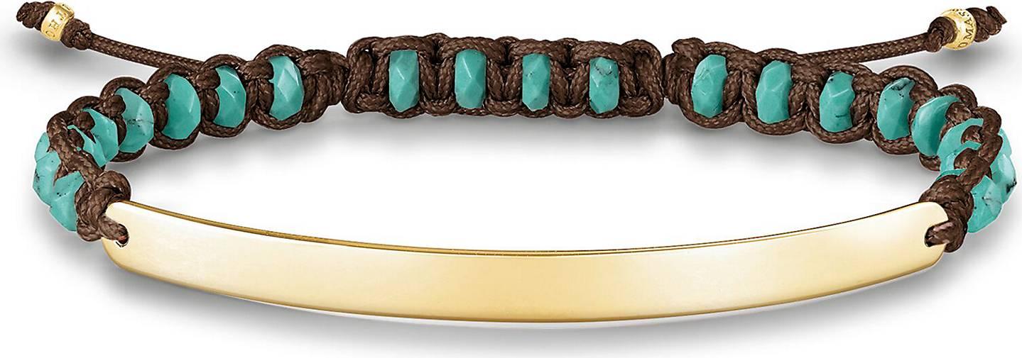"Thomas Sabo Armband ""türkis vergoldet LBA0056-896-17-L19v"""