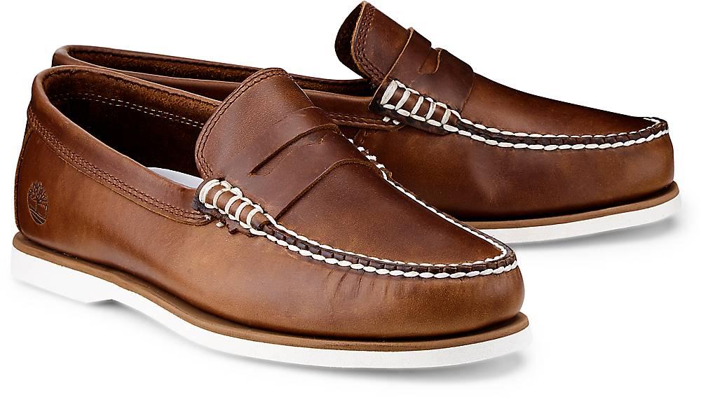 Timberland, Penny-Loafer in braun, Slipper für Herren Gr. 40