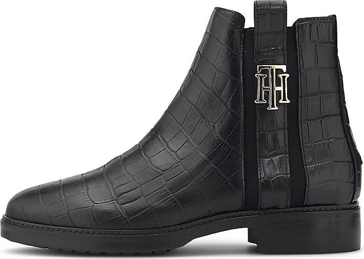Tommy Hilfiger Chelsea-Boots CROCO LOOK