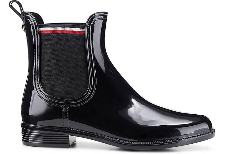bester Wert Weltweit Versandkostenfrei sehr bequem schwarz Boots ODETTE Gummi Hilfiger Tommy wxq74Yy --die ...