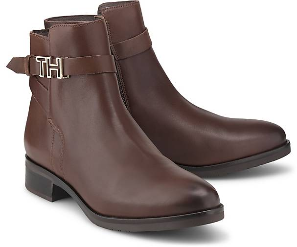 Tommy Hilfiger HARDWARE LEATHER FLAT BOOT