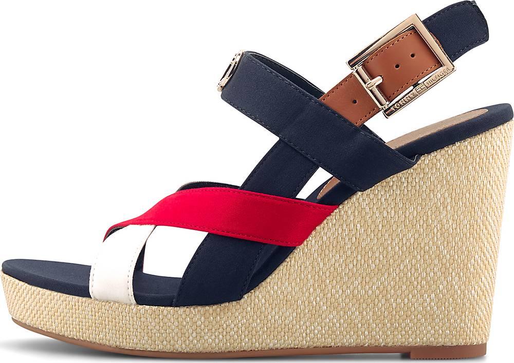 Tommy Hilfiger, Keil-Sandalette Basic in blau, Sandalen für Damen