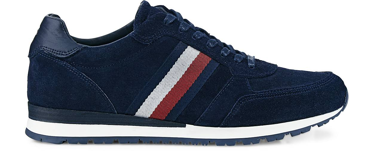 Tommy Hilfiger Leder-Sneaker - RUNNER in blau-dunkel kaufen - Leder-Sneaker 47478101 | GÖRTZ Gute Qualität beliebte Schuhe 304b61