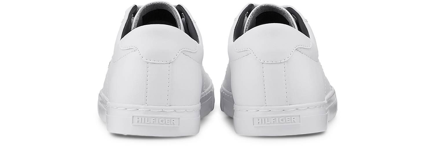 Tommy Hilfiger Leder-Sneaker in weiß kaufen Gute - 47710401 | GÖRTZ Gute kaufen Qualität beliebte Schuhe ced64b