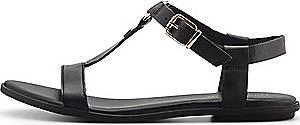 Tommy Hilfiger, Riemchen-Sandale Feminine Flat in schwarz, Sandalen für Damen