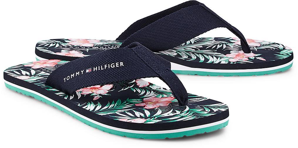 Tommy Hilfiger Sandale FLOWER PRINT in blau-dunkel kaufen - 47075801 ... ce1efbc8874