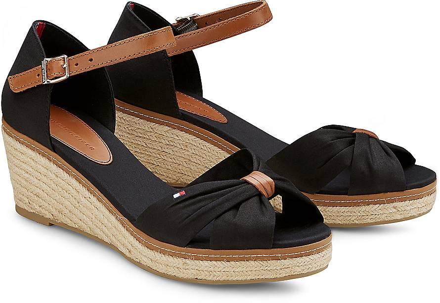 sandalette elba 19d von tommy hilfiger in schwarz f r damen. Black Bedroom Furniture Sets. Home Design Ideas