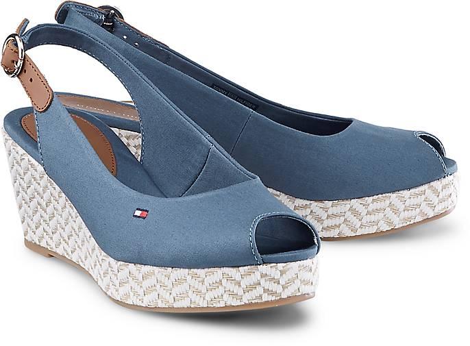 tommy hilfiger sandalette elba 39d keil sandaletten blau mittel g rtz. Black Bedroom Furniture Sets. Home Design Ideas