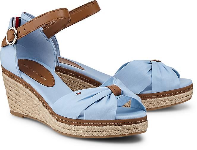 Tommy 40D Hilfiger Sandalette ELBA 40D Tommy in blau hell kaufen 45056607 ... 10f77c