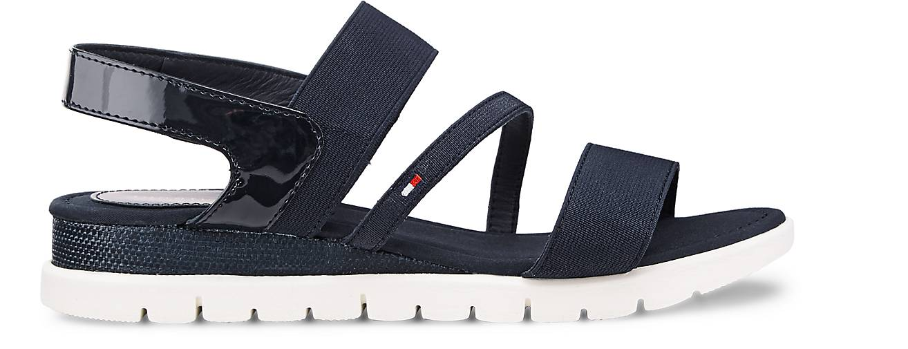 tommy hilfiger sandalette madalene 3 riemchensandalen blau dunkel g rtz. Black Bedroom Furniture Sets. Home Design Ideas