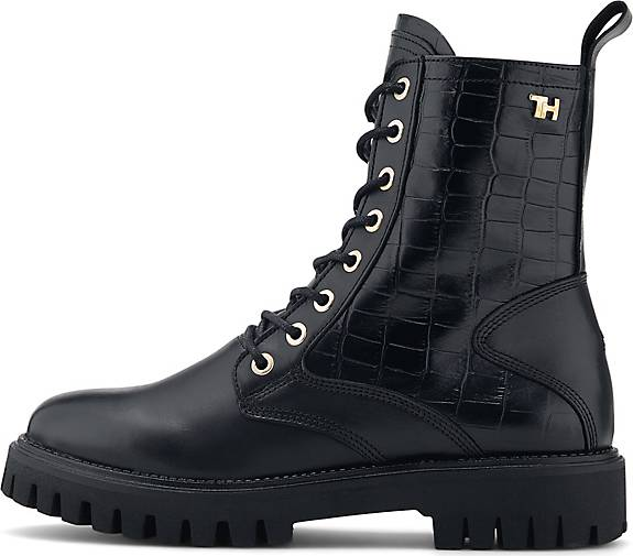 Tommy Hilfiger Schnür-Boots CROCO LOOK