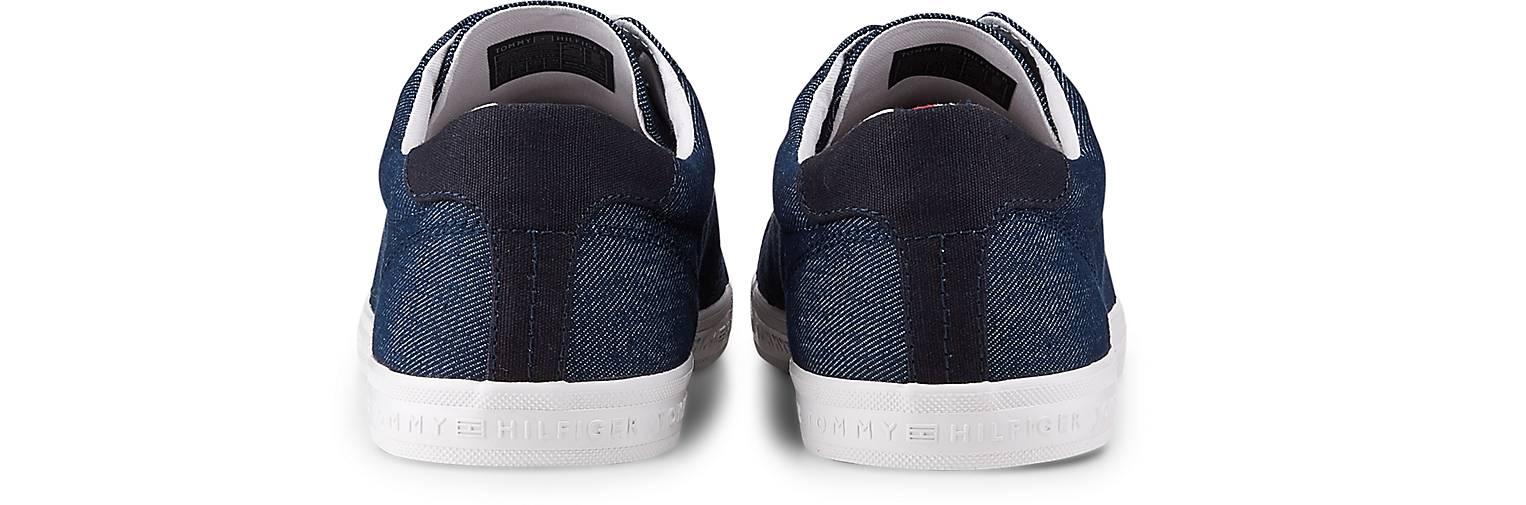 Tommy Hilfiger blau-dunkel Sneaker LONG LACE in blau-dunkel Hilfiger kaufen - 47075101 | GÖRTZ Gute Qualität beliebte Schuhe 5d1dec