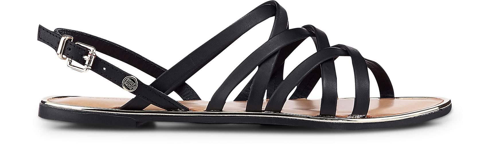 Tommy kaufen Hilfiger Trend-Sandalette in schwarz kaufen Tommy - 47054901   GÖRTZ Gute Qualität beliebte Schuhe b87b67