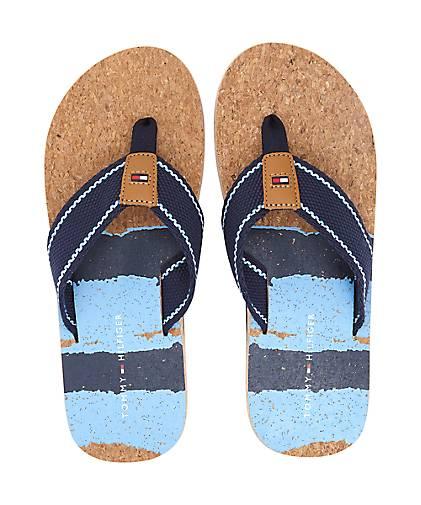 Tommy Hilfiger Zehentrenner in blau-mittel kaufen - Qualität 47478302 | GÖRTZ Gute Qualität - beliebte Schuhe 359d00