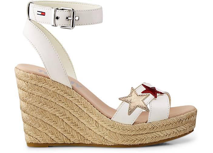 bf229297b984 ... Tommy Jeans Bast-Sandalette in weiß GÖRTZ kaufen - 47070901   GÖRTZ  weiß Gute Qualität ...