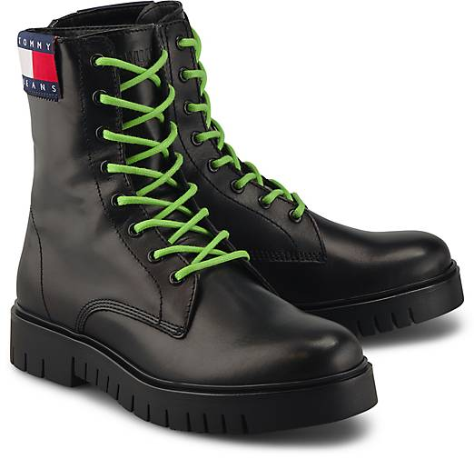 Tommy Jeans Boots NEON DETAIL LACE UP