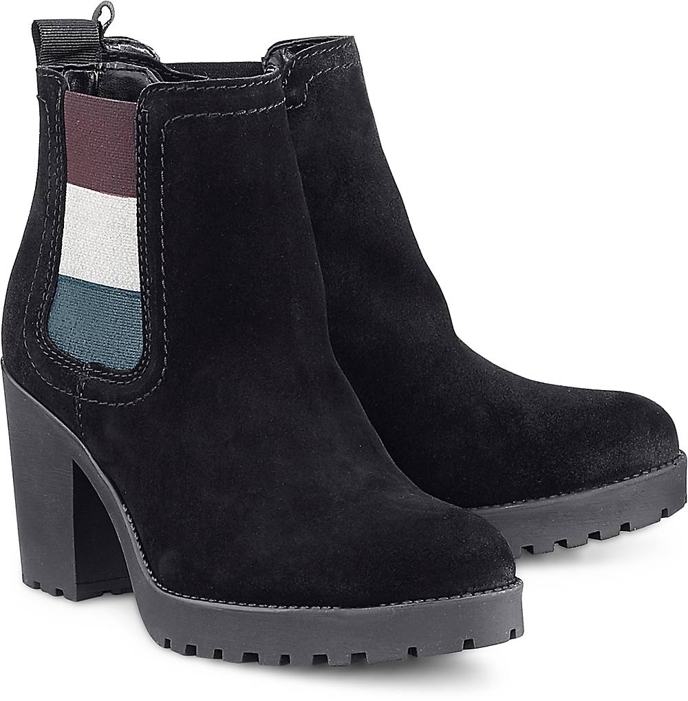 Chelsea-Stiefelette von Tommy Jeans in schwarz für Damen. Gr. 37,38,41 Preisvergleich
