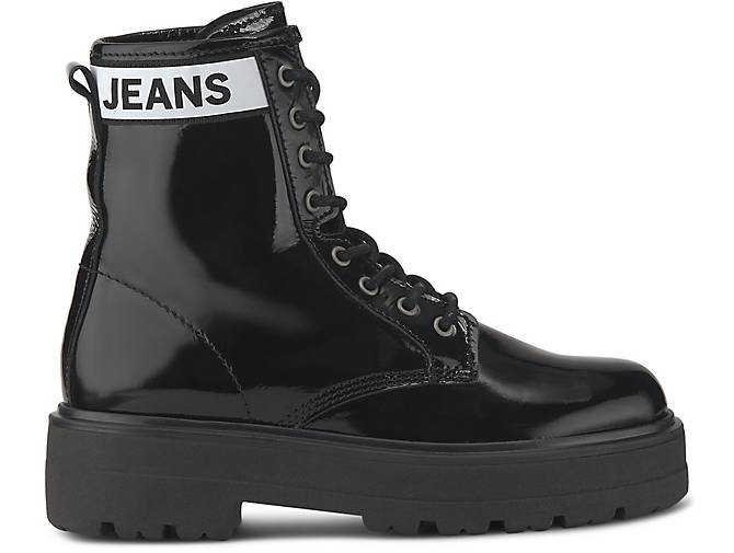 superior quality outlet store 2018 shoes Tommy Jeans Plateau-Boots schwarz | GÖRTZ - 48724201