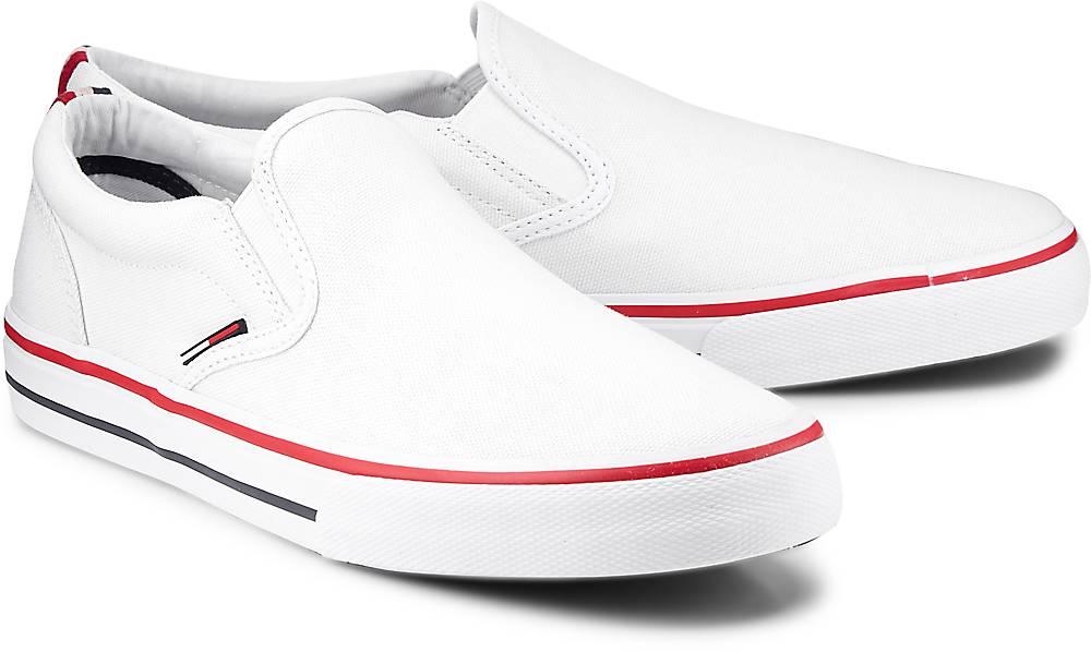 Slip-On-Sneaker von Tommy Jeans in weiß für Herren. Gr. 40,41,42,43,44,45,46 Preisvergleich