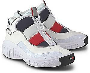 Tommy Jeans, Sneaker Heritage Padded Nylon in weiß, Sneaker für Damen