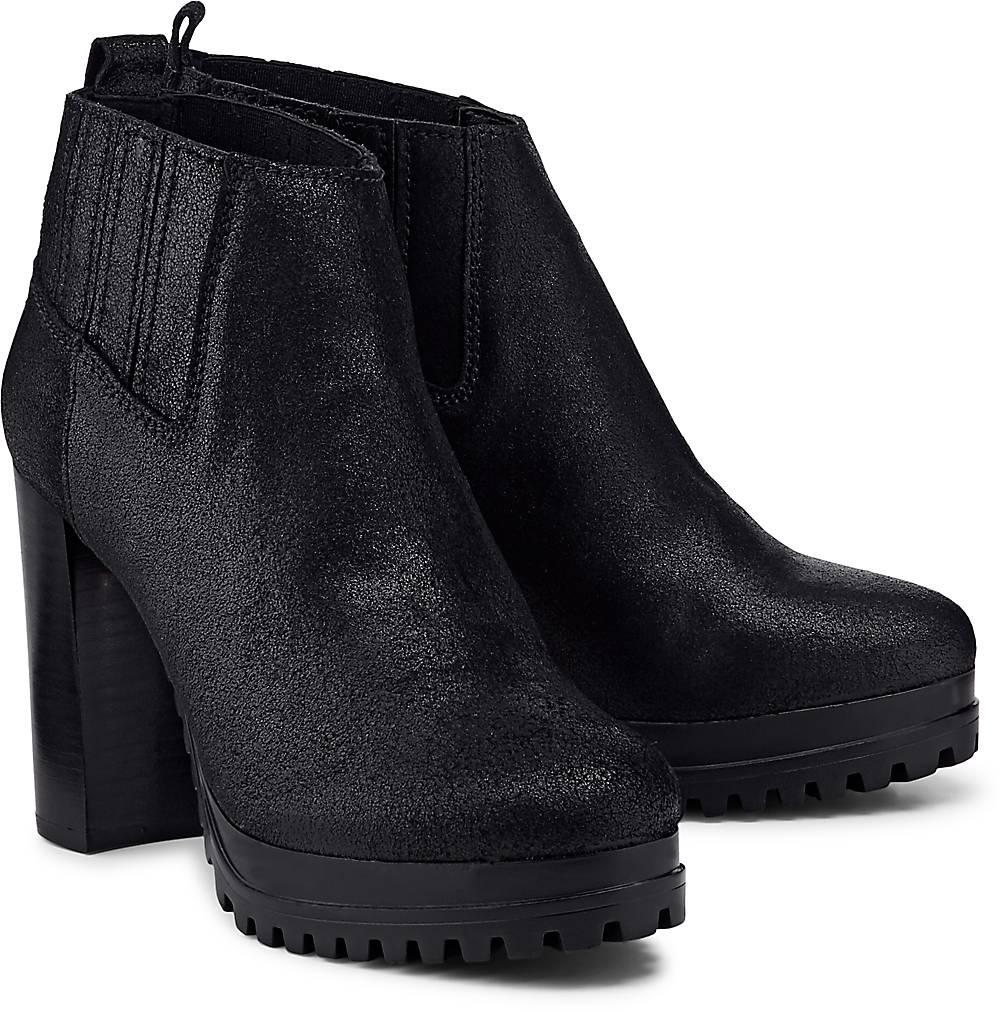 Trend-Stiefelette von Tommy Jeans in schwarz für Damen. Gr. 36,37,38,39,40 Preisvergleich