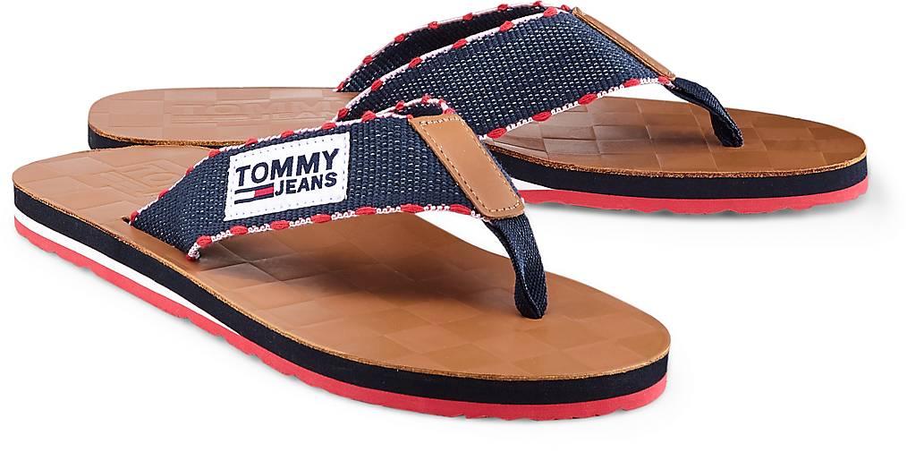 Tommy Jeans Zehentrenner in braun-mittel kaufen - 47078102 beliebte | GÖRTZ Gute Qualität beliebte 47078102 Schuhe 8ed8e8