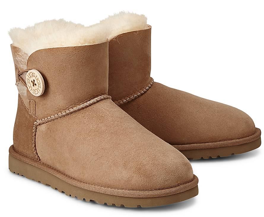 ugg boots bailey button grau 37