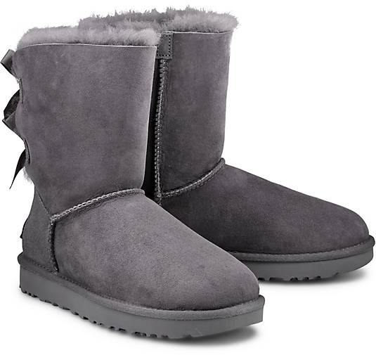 ugg boots bailey bow ii winter boots grau hell g rtz. Black Bedroom Furniture Sets. Home Design Ideas